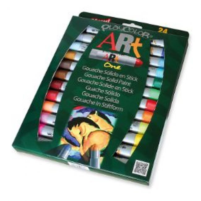 Tempera solida 24 colors 10g Playcolor One Art 58251