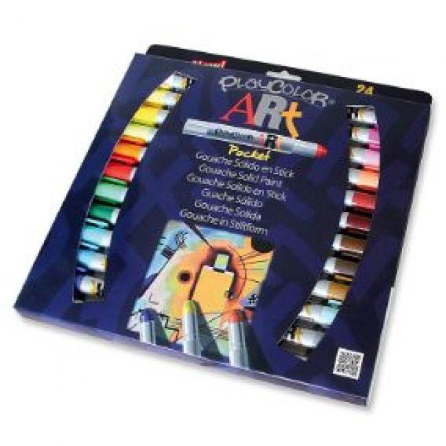 Tempera solida 24 colors 5g Playcolor Pocket Art 58271