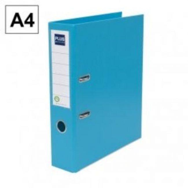 Arxivador palanca A4 2x65 amb rado blau clar Plus E3R