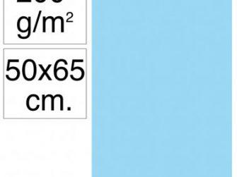 Cartolina 50x65 200gr blau celest Makro