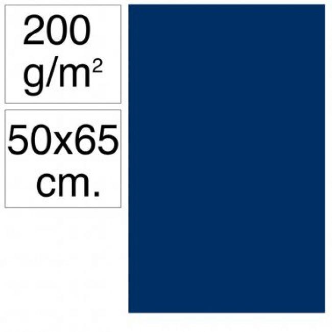 Cartolina 50x65 200gr blau ultramar Makro