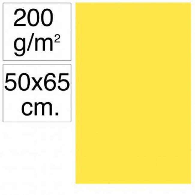 Cartolina 50x65 200gr groc canari Makro