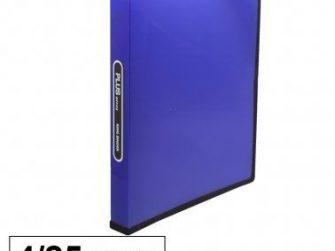 Arxivador A4 4x25 polipropilè blau transparent Plus 180834