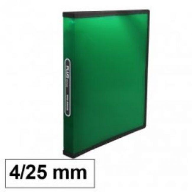 Arxivador A4 4x25 polipropilè verd transparent Plus 180838