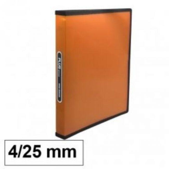 Arxivador A4 4x25 polipropilè taronja transparent Plus 180836