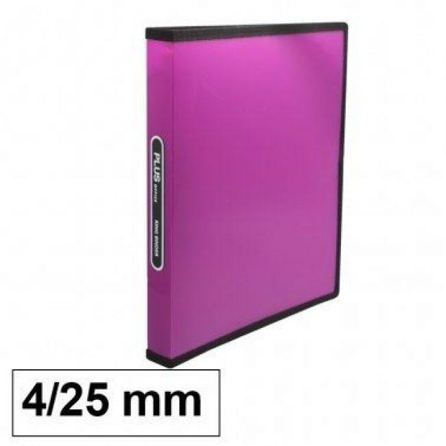 Arxivador A4 4x25 polipropilè fucsia transparent Plus 180835