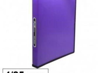 Arxivador A4 4x25 polipropilè violeta transparent Plus 180837