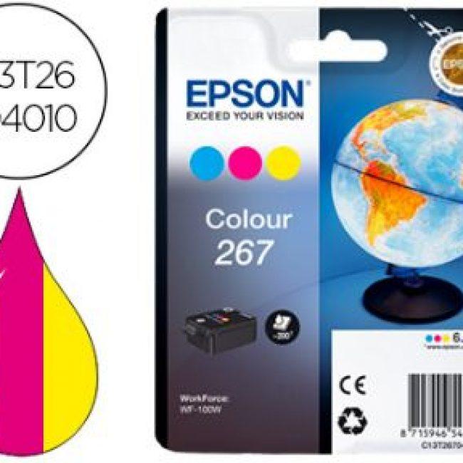 Cartutx tinta original Epson T267 tricolor