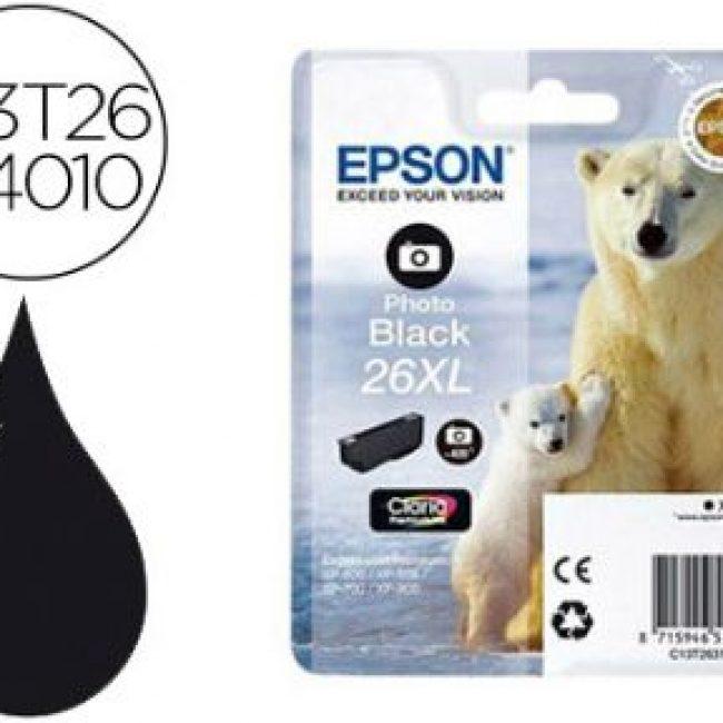 Cartutx tinta original Epson T2631 26XL negre foto