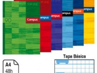 Llibreta grapada A4 48 fulls 90g doble 4mm C.M. TB Campus 2161