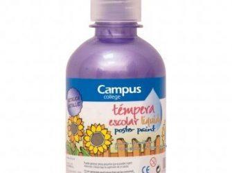 Tempera escolar metal·litzada violeta 250ml Campus