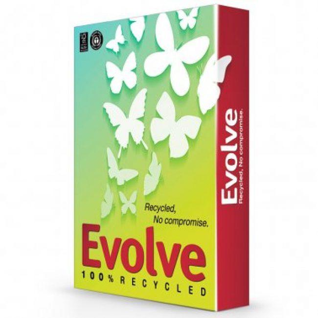 Paper Din A4 reciclat 80g Evolve -resma-