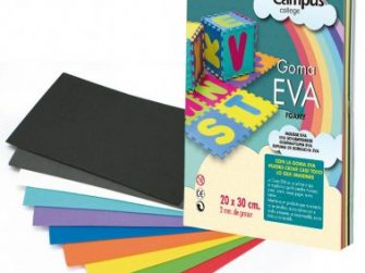 Lamines EVA 12 colors A4 (20x30) Campus 630450 -p 12-