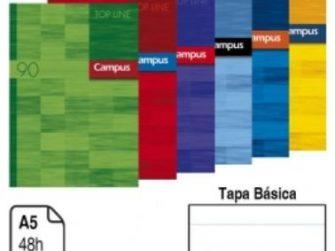 Llibreta grapada A5+ 48 fulls 90g ratlla hz TB Campus 2203