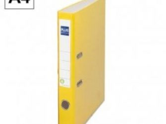 Arxivador palanca A4 2x45 amb rado groc Plus E1R