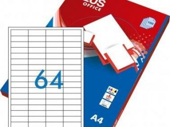 Etiquetes A4 48,5x16,9 Plus 1635 -caixa 100-