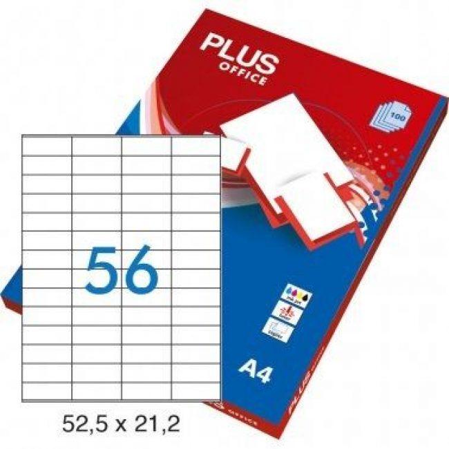Etiquetes A4 52,5x21 Plus 1638 -caixa 100-