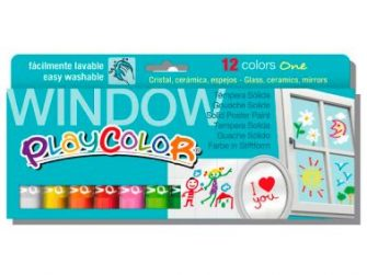 Tempera solida 12 colors 10g Playcolor One Window 02011