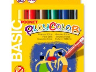 Tempera solida 6 colors 5g Playcolor Pocket 10511