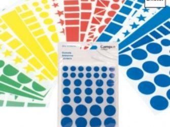 Etiquetes gomets formes geomètriques Plus -p 20-