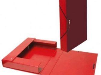 Caixa projectes PVC vermell A4 llom 3 Plus