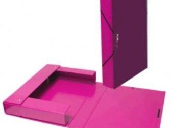 Caixa projectes PVC fucsia A4 llom 3 Plus