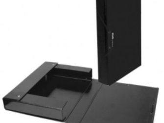Caixa projectes PVC negre A4 llom 5 Plus