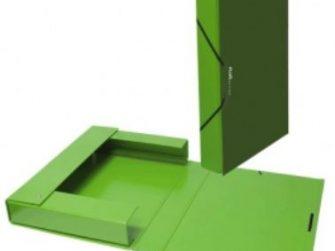 Caixa projectes PVC verd A4 llom 5 Plus