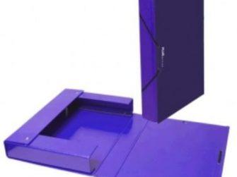 Caixa projectes PVC violeta A4 llom 5 Plus