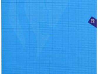 Llibreta grapada PP 48f 90g seyes 24x32 blau Clairefontaine Mimesys