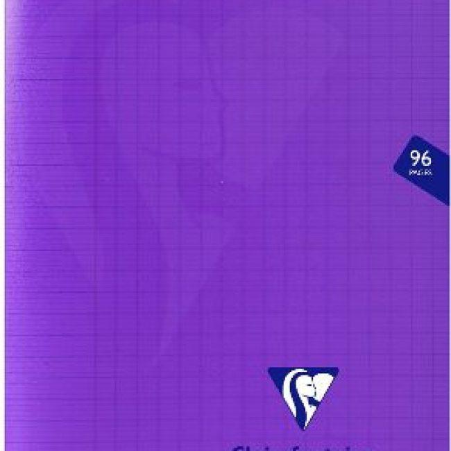 Llibreta grapada PP 48f 90g seyes 17x22 violeta Clairefontaine Mimesys