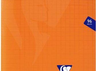Llibreta grapada PP 48f 90g seyes 17x22 taronja Clairefontaine Mimesys