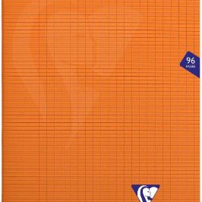 Llibreta grapada PP 48f 90g seyes 21x29,7 taronja Clairefontaine Mimes