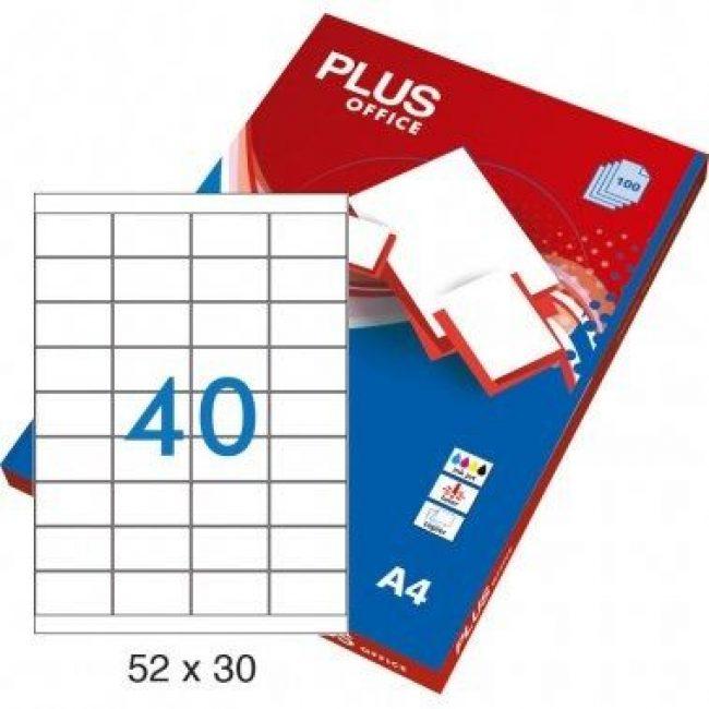 Etiquetes A4 52x30 Plus 2363 -caixa 100-