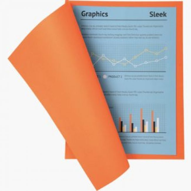 Subcarpeta cartolina taronja A4 250gr Exacompta -p 100-