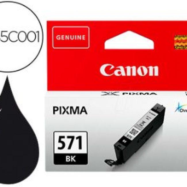 Cartutx tinta original Canon CLI-571BK negre 0385C001