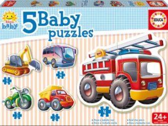 Puzzle Baby Vehículos 24+ Educa 14866