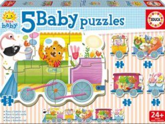 Puzzle Baby Tren de los animales 24+ Educa 17142