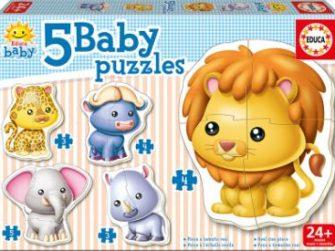 Puzzle Baby Animales salvajes 24+ Educa 14197