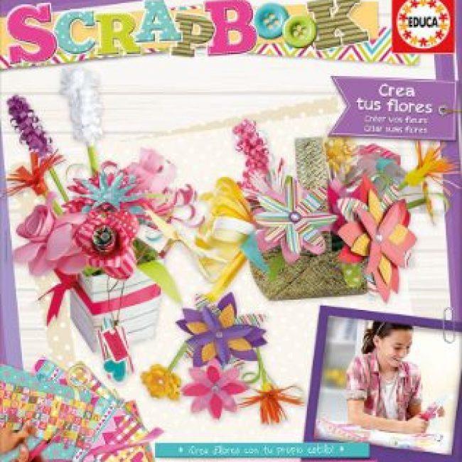 Crear tus flores Scrapbook Educa 16982