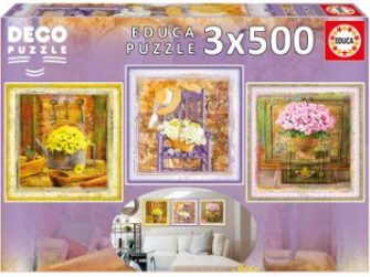 Puzzles 3x500 Enchanted Moments Gail Marie ´Deco Puzzle´ Educa 17095