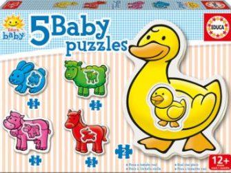 Puzzle Baby Granja 12+ Educa 14865