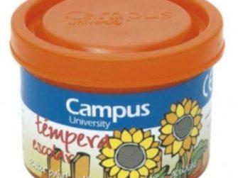 Tempera escolar taronja 40 ml Campus