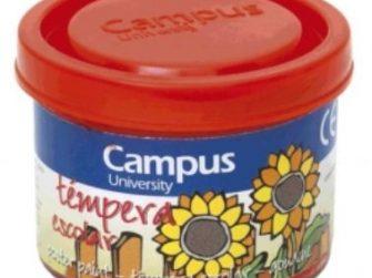 Tempera escolar vermell 40 ml Campus