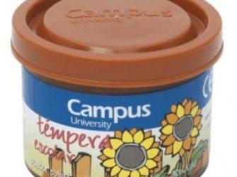 Tempera escolar marró 40 ml Campus