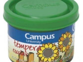 Tempera escolar verd 40 ml Campus