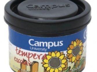 Tempera escolar negre 40 ml Campus