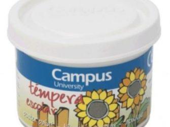 Tempera escolar blanc 40 ml Campus