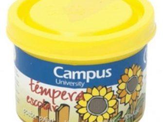 Tempera escolar groc 40 ml Campus