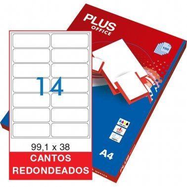 Etiquetes A4 99,1x38,1 Plus 1637 -caixa 100-